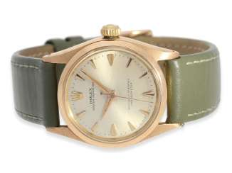 Watch: rare, high fine Golden-red Rolex Chronometer reference 6548, 1957