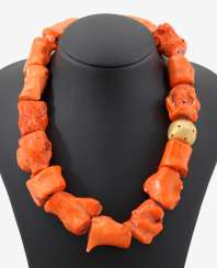 Unusual Bamboo Coral Necklace
