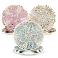 A HARLEQUIN SET OF TWELVE ROYAL WORCESTER PORCELAIN PLATES