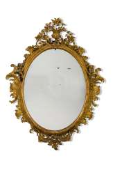 A ROCOCO REVIVAL GILTWOOD AND COMPOSITION MIRROR