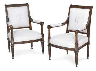 Pair of armchairs in the neoclassical style