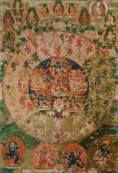 The Mandala of 58 wrathful deities from the Tibetan book of the dead