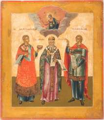 ICON OF THREE SELECTED SAINTS