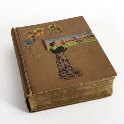 Postcard album with about 1000 cards
