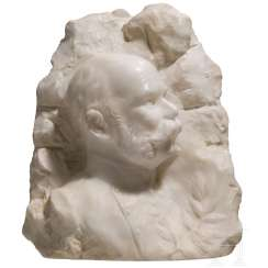 Emperor Franz Joseph I of Austria - Alabaster-profile bust of the Emperor