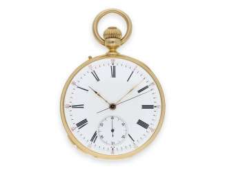 Pocket watch: very fine Lepine with Seconde Morte, and a rare Elevator, Martin & MArchI Ville Geneve, No. 16166, made for Jules Huguenin 1873