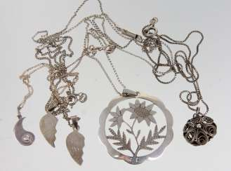 Post pendants on chains