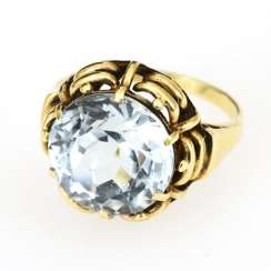 Ring with a light blue stone?