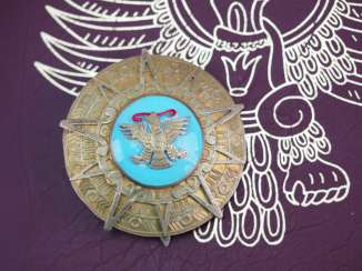 Mexico: order of the Aztec eagle, Grand cross star, in a case.