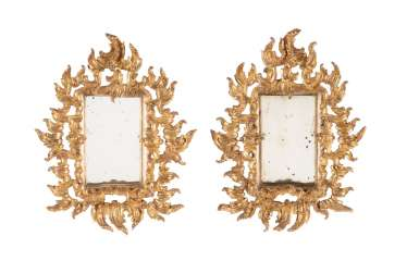PAIR OF MIRROR IN THE FLORENTINE STYLE