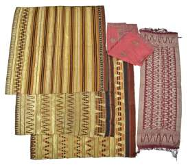 Five textiles made of silk, among others