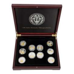 "SILVER medal set ""1200 years of German coin history"" -"