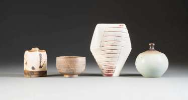 FOUR OF THE ARTIST'S CERAMICS. Germany, 2. Half of the 20th century. Century, Gerburg Charterhouses, as well as Wilhelm and Elly Kuch, among other things