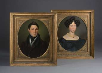 Paintings Biedermeier Couple,
