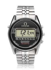 OMEGA, STEEL, SPEEDMASTER PROFESSIONAL QUARTZ DIGITAL, REF. ST 186.0004