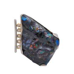 Ring with a boulder opal,