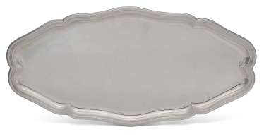 A FRENCH SILVER FISH DISH