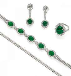 EMERALD AND DIAMOND SET. Düsseldorf, 1960.