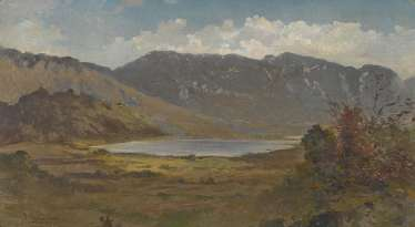 Braunerová, Zdenka - lake in a mountain landscape