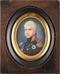 MINIATURE WITH THE PORTRAIT OF ALEXANDER I. OF RUSSIA