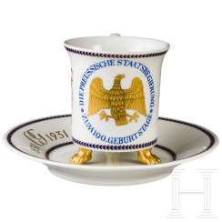 KPM-gift of a Cup of the Prussian government to 100. Birthday