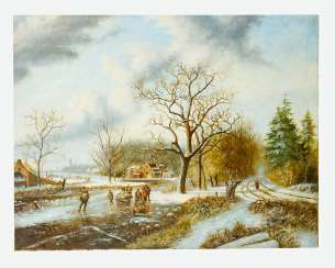 Dutch Artist, Landscape , Oil Canvas, 19./20. Century