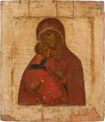 ICON WITH THE MOTHER OF GOD OF VLADIMIR (VLADIMIRSKAJA) Russia