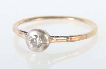 Solitaire ring 2nd half of the 19th century