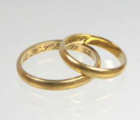2 Wedding Rings - Yellow Gold 333