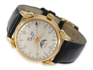 Watch: vintage calendar watch with moon phase, Gruen Geneve