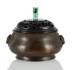 Incense burner made of Bronze with animal head Handle