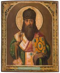LARGE ICON WITH THE HOLY SPIRIDON OF CORFU Russia