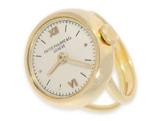 Ring watch: exceptional ring watch, signed Patek Philippe, probably the 30s