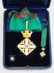Italy: order of merit of the Republic of Italy, commander's cross, in a case.