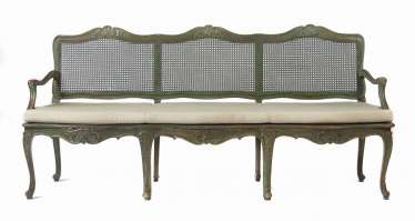 Rococo style three-seater sofa, 2nd half of the 19th century