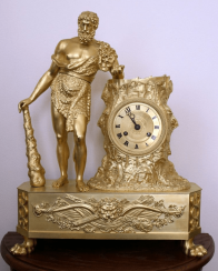 Hercules table clock,France 19th century