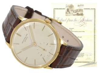 Watch: early Patek Philippe Calatrava,