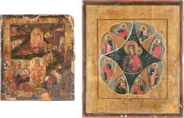 TWO ICONS: THE RESURRECTION AND HADES JOURNEY OF CHRIST AND THE MOTHER OF GOD IS 'NON-COMBUSTIBLE BUSH'