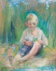 Boy in the reeds