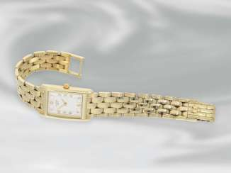 Watch: elegant ladies watch from the Tissot brand, 14K Gold, Ref. T73231432, And Original Papers