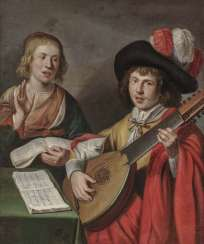 Netherlands (Utrecht?), 17. Century. Music-Making Couple