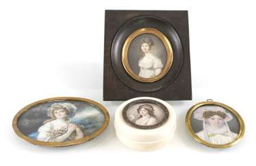 3 Miniatures, Boxes, Ladies