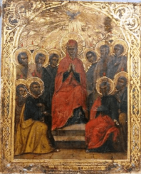 The descent of the Holy spirit on the apostles