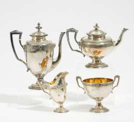 Four-piece coffee and tea service Empire style