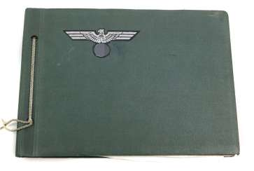 Military album with imperial eagle