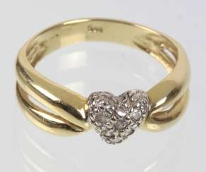 Ring with cubic Zirconia - GG/WG 585