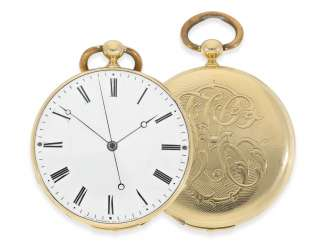 Pocket watch: extremely rare Patek Philippe the earliest known Patek Philippe
