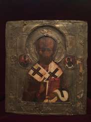 Icon Of Nicholas. Russia 18-19 century