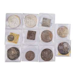 Highly interesting 11-piece mixed lot of coins, 17./18. Century. -