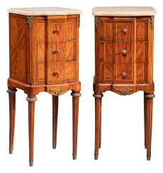 Pair of side cabinets in the style of Louis XVI